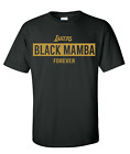 Kobe Bryant T-shirt Kobe Shirt Black Mamba Los Angeles Lakers FREE SHIPPING  image