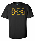 Kobe Bryant T-Shirt GOAT Black Mamba 8 24 Logo LA Lakers Shirt All Size YS-2XL image