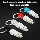 Keychain 3 In 1 Magnetic Portable USB Cable For Ulefone U5