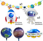 Space Rocket spaceship Stars Galaxy Astronaut Foil Kids Birthday Party Balloon