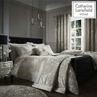 Crushed Velvet Natural Duvet Set Reversible Bedding Spread Catherine Lansfield