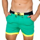 TADDLEE Men Swimwear Solid Basic Long Swim Boxer Trunks Board Shorts Swimsuits