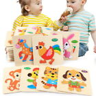 3D Animal Wooden Jigsaw Puzzles Preschool Puzzle Learning Set For Kids Toddler