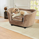 Extra Large Pet Sofa Chair Upholstered Dog Cat Foam Bed Couch Settee Velvet Beds