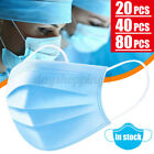 20/40 Pcs Disposable Face Mouth Cover 3-layer Anti-dust Filter