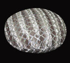 ms03n Gray Mauve Velvet Silver Sequins Checked Round Cushion Cover Pillow Case