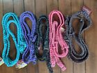 Contest Barrel Racing Reins - Braided Reflective Parachute Cord - 5 Colors