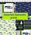 NFL Seattle Seahawks assorted prints Cotton Fabric by the yard, fat quarters $15.59 USD on eBay