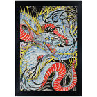 Dragon in Indigo by Clark North Japanese Tattoo Unframed or Framed Art Print
