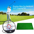 Pitching Chipping Cage Golf Net Mat Ondoor Practice Training Outdoor Aids Easy