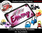 Custom License Plate Decal Sticker Fits Little Tikes Cozy Coupe Princess Crown