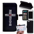 PIN-1 JESUS CHRISTIAN CROSS BIBLE VERSE Phone Wallet Flip Case Cover for LG