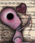 Evermore by Abril Andrade Pink Sugar Skull Sheet Music Canvas Fine Art Print