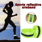 Reflective Arm Band Hook Loop Safety Bands For Cycling Walking Running X9q5