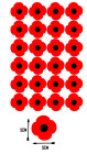 24x Poppy Remembrance Vinyl Sticker Stickers Craft  Lest We Forget Car Home