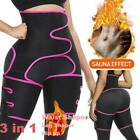 Thigh High Waist Trimmer Exercise Wrap Belt Sauna Sweat Slimming Body Shaper Gym image