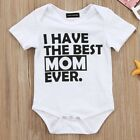 Newborn Baby Girl Boy Clothes Set Short Sleeve Romper Jumpsuit wang NtNtH