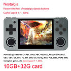 RG350M Video Game Console 3.5'' IPS Screen Aluminum Alloy Handheld + 32G SD Card