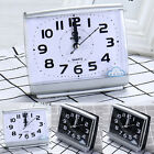 Small Alarm Clock Silent No Tick Night Glow Quartz Large Number Bedside Snooze