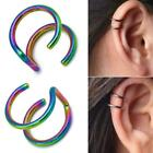 Stainless Steel 1 Peace Ear Cuff Non Piercing Clip On Earrings Fake M8i1
