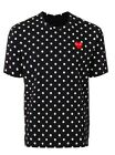 CDG T-Shirt Comme Des Garcons Play Short Sleeves Polka Dot Unisex Teen Adult Tee image