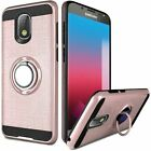 For Samsung Galaxy J7 Star/Crown Metallic Brushed Magnetic Ring Stand Phone Case
