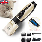 Cordless Electric Pet Dog Cats Grooming Clippers Low Noise Shaver Trimmer Kit UK