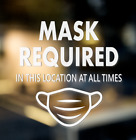 Face Mask Required Decal. Storefront And Office Window Decal.  Door Sign