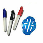 Golf Ball Marker 3 Lines with Pens Stamp Template Drawing Tools Marks Alignment