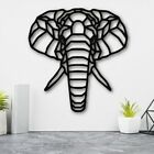 Elephant Head Geometric Wall Decoration Art Home Living Room Sign Plaque