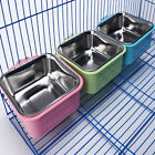 Plastic Hanging Bowl Pet Bowl Cup Eat Crate Clean Stainless Steel Dog Food Bowl
