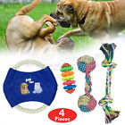ROPE TOYS DOG PET PUPPY GRINDING PREVENTS BOREDOM TOYS UK STOCK SETS 4 PIECES