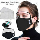 Face with Eyes Shield Mouth Reusable Washable Anti Facial Protective 2 Filter
