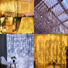 100/200 Led Solar Fairy String Waterfall Lights Bright Home Decor Indoor Outdoor