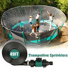 Trampoline Sprinkler Water Spray Kids Outdoor Summer Fun Backyard Waterpark Game
