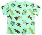 Scooby Doo Mens Vintage Green Mystery Machine 90s Cartoon All Over T-Shirt New image