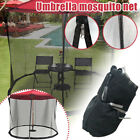 Outdoor Garden Umbrella Table Patio Umbrella Mosquito Net With Zipper Door US