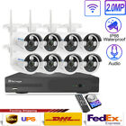 Wireless Security WIFI Camera System 1080P 8CH Outdoor NVR CCTV + Hard Drive Lot