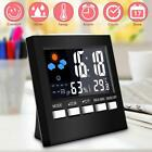 Digital Display Thermometer Humidity Alarm Clock LCD Alarm Calendar Weather
