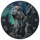 Lisa Parker Wolf Picture Wall Clock Wolves Fantasy Magical Mythical Gift Idea