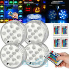 4Pcs Multicolor LED Submersible Swimming Pool Light Remote Underwater Pond Party