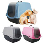Cat Litter Tray Portable Hooded Box Covered Hand Carry Travel Pet Carrier Toilet