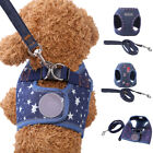 Denim Dog Harness and Leash Set Soft Vest Pet Puppy Jeans Clothes Supply Hot