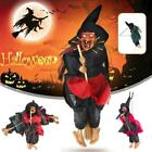 Witch Doll Hanging Prop Halloween Toy Animated Ghost Scary Riding Party Decor