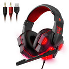 3.5mm Stereo Sound Headphone Gaming Headset For PS4/PS5/Nintendo Switch/Xbox One