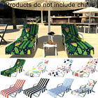 DI- Stripe Cactus Flamingo Beach Sunbathing Lounge Chair Cover Towel with Pocket