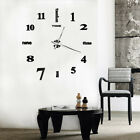 DI- KM_ BE_ Universal Large Wall Clock Big Watch Decal 3D Stickers Diy Wall Home