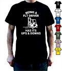 FORK-LIFT-TRUCK-DRIVER-FLT-Ups-Downs-Funny-T-Shirt-Birthday-Fathers-Day-Gift