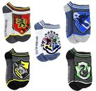 HARRY POTTER HOGWARTS 5-Pack Low Cut No Show Kids Ages 5-9 Shoe Size 10-4 NWT