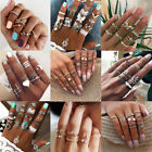 NEW Silver Gold Women Ring Set Vintage Knuckle Stacking Tribal Ethnic Midi Rings